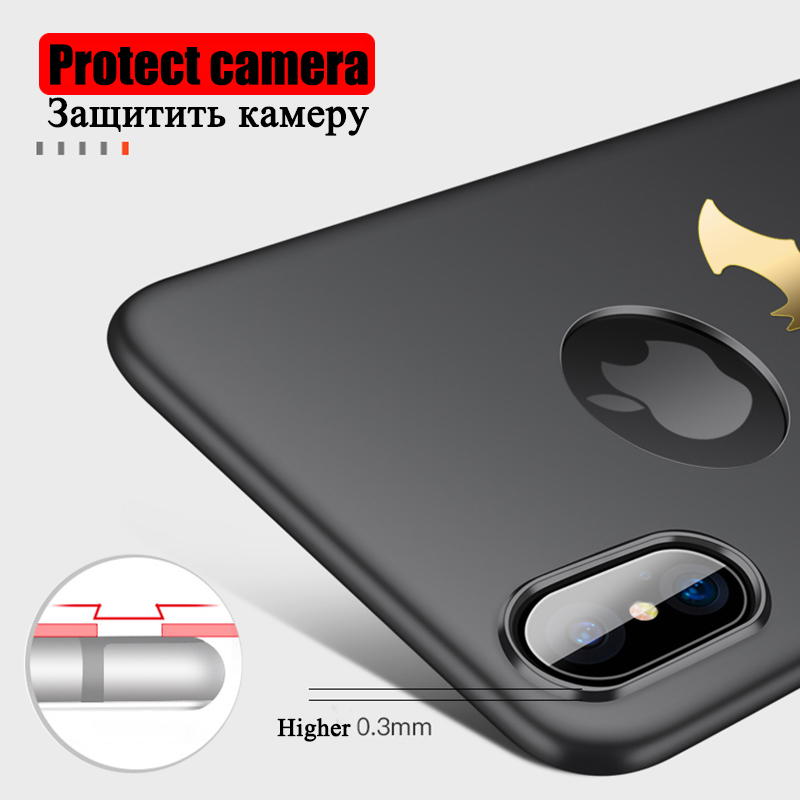 Ultra Thin Batman Case for iPhone X Cases PC Hard Fitted Back Cover Black Rose Gold Red Vintage Pattern Back Shell 2