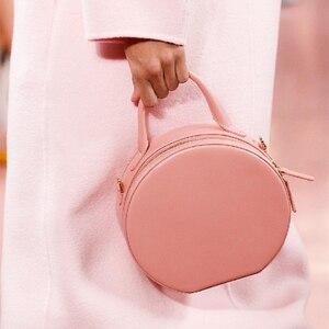 Image 3 - Brand Chic Round Handbags Women 2019 High Quality PU Leather Women Bag Round Cute Girl Messenger Bag Shoulder Sac Bolsa Female