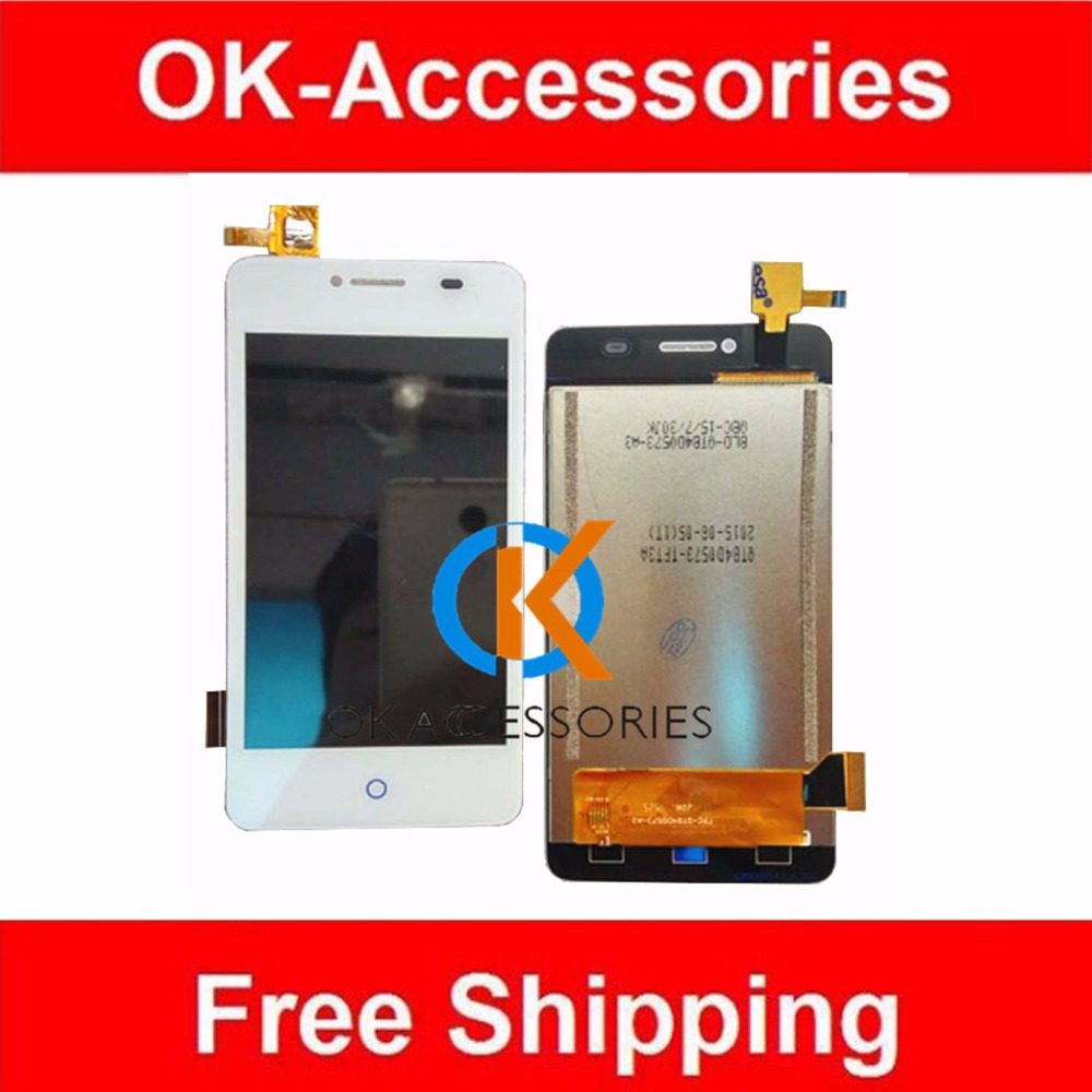4 Inches White Color 100% Tested For ZTE Blade AF3 T221 A5 A5 Pro A5Pro LCD Display+Touch Screen Digitizer Assembly 1PC/Lot