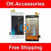 4 Inches White Color 100 Tested For ZTE AF3 LCD Display Touch Screen Digitizer Assembly 1PC