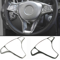 Refit ABS Sticker Steering Wheel Button Trim Decorative Frame Sticker Accessories For Mercedes Benz W205 W213