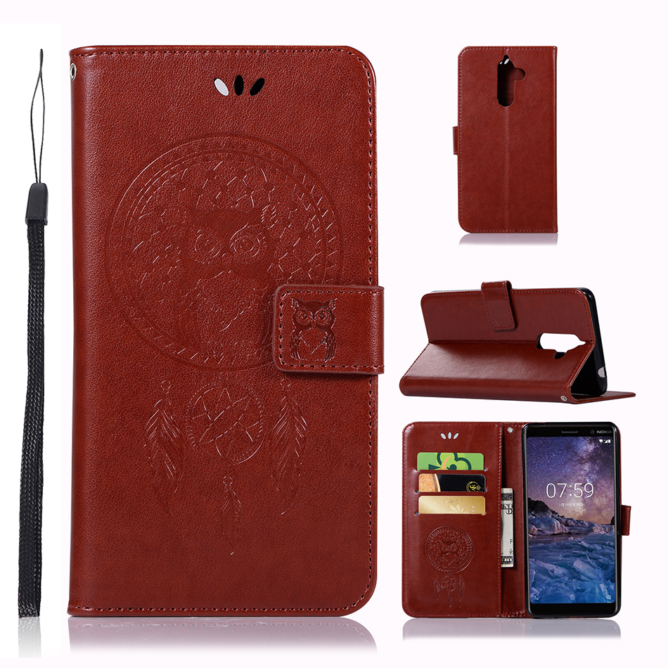 Owl Wallet Flip Case For Nokia 3 5 8 9 7 Plus 6 PU Leather Silicone Fundas For Google Pixel XL 2 Back Cover B183