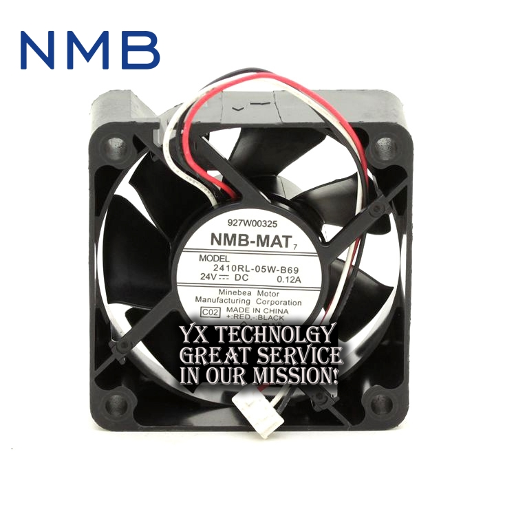 все цены на  New and Original 2410RL-05W-B69 6025 24V 0.12A three line drive fan for NMB 60*60*25mm  онлайн