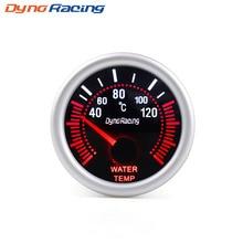 Dynoracing 2 52mm Universal Smoke Lens Digital Water Temp Temperature Gauge 40-120C 12V LED temp sensor Car gauge