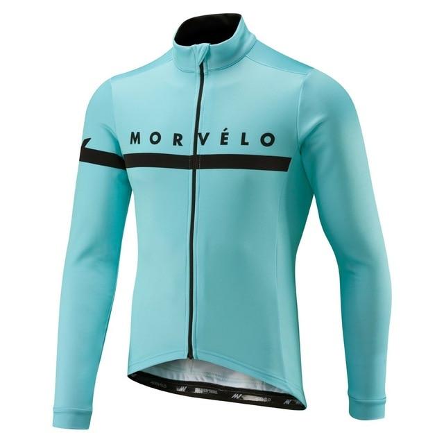 Cycling Jersey Morvelo Clothing Bike-Wear Long-Sleeve Fleece Maillot Winter Pro Men
