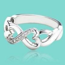 fsr049 fashion 925 sterling silver cz ring infinity