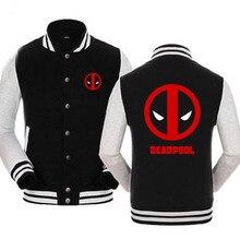 New Deadpool Hoodies The Avengers Film Hooded Winter cotton baseball Coats Jackets Men Sweatshirt