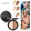 3 unids/set Resaltar Bronceadores Contour Paleta de Polvo de Maquillaje Blush Bronzer y Highlighter Bronceador Corrector Paleta de Color de 2 Diff