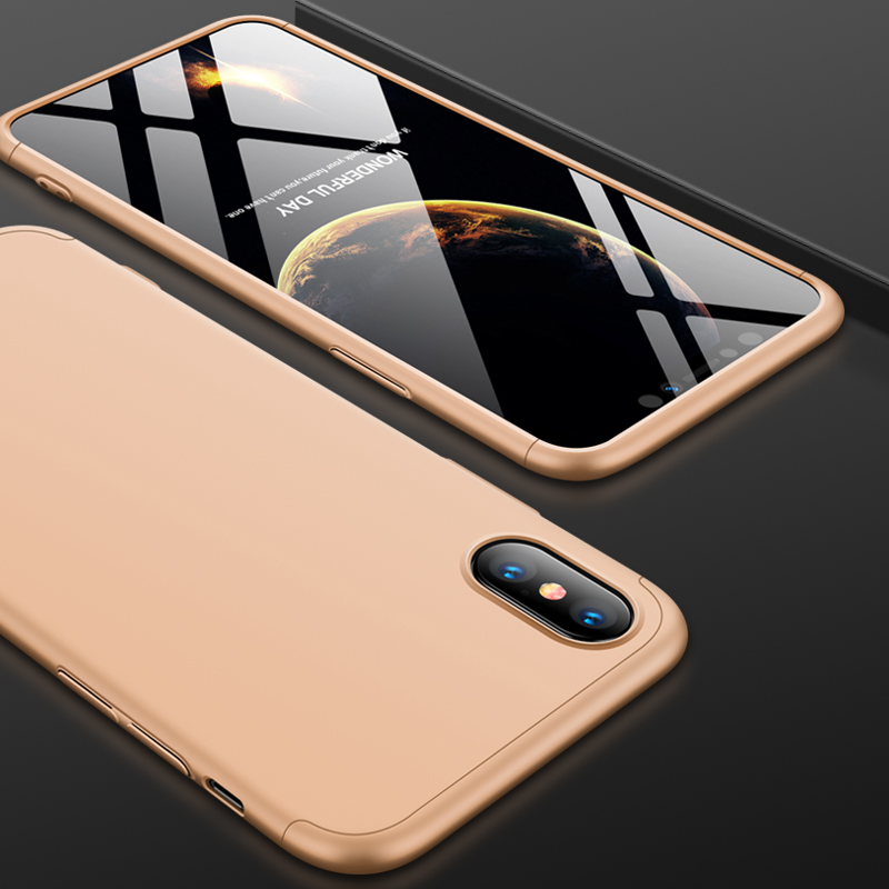 For iPhone XS Max 6.5inch Case 360 Degree Full Luxury 3-IN-1 Shockproof Frosted Shield Hard Back Cover Case For iPhone XSMaxCase (3)