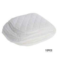 10 шт., 3 слоя хлопка, моющиеся подгузники, подгузники для малышей, многоразовые тканевые подгузники для новорожденных