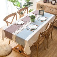 Modern Decorative Table Cloth Tassel Rectangle Tablecloth Home Kitchen Table Cloths Party Banquet Dining Table Cover