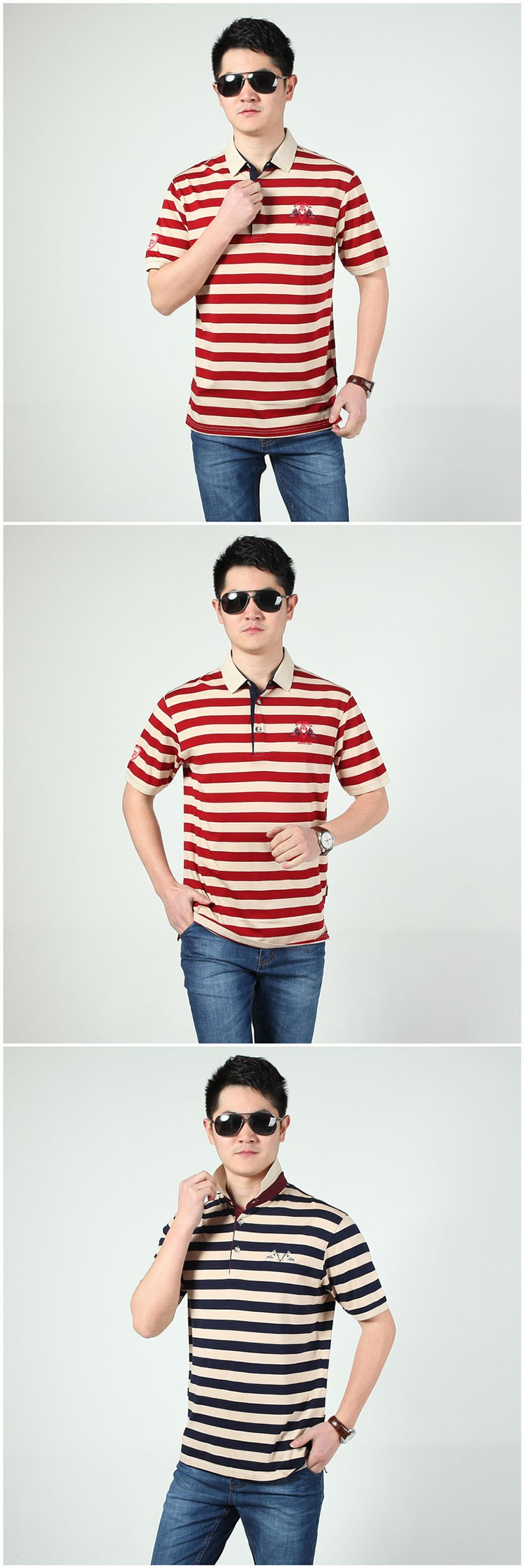 Polo Shirts Men Fashion Brand Striped Cotton Polos Slim Fit Summer Short Sleeves Male Casual Shirts Top Quality Plus Size 3XL (7)