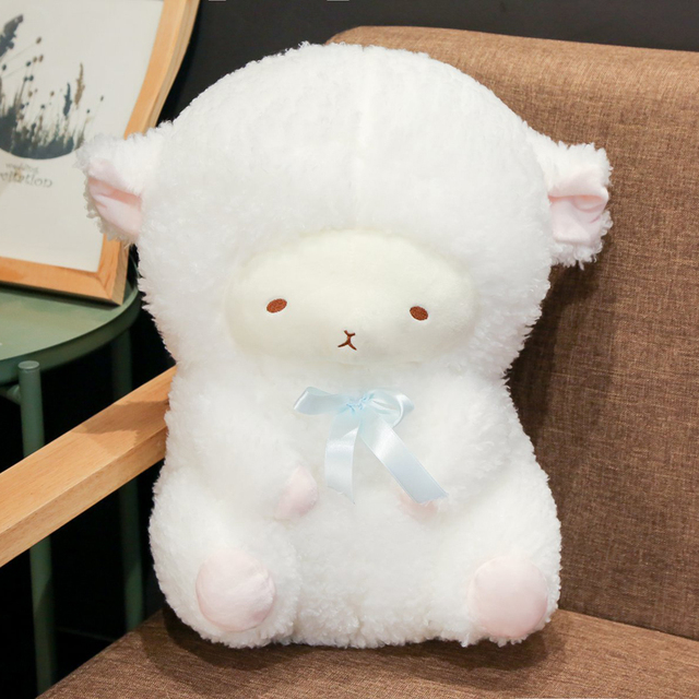 1PCS 30/40cm New Creative Sleeping Wool Toys Cute Soft Sheep Plush Stuffed Toys Kids Toys for Boys and Girls Birthday Gifts