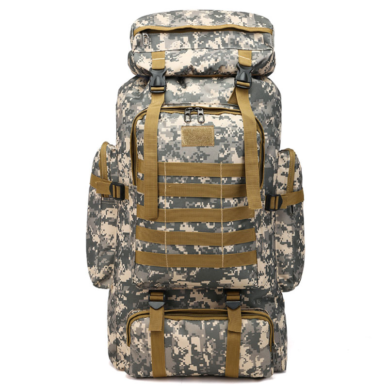 FANSON 80L Large Capacity Outdoor Mountaineering Backpack Camping Hiking Military Molle Water-repellent Tactical Bag AdjustableFANSON 80L Large Capacity Outdoor Mountaineering Backpack Camping Hiking Military Molle Water-repellent Tactical Bag Adjustable