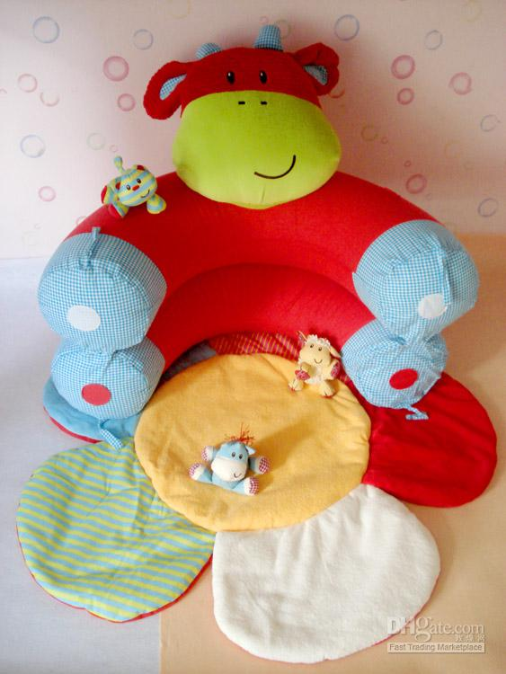 Pink Rabbit Inflatable Baby Sofa Seat ELC Blossom Farm Sit Me Up Cosy Infant Soft Play Mats EC-003