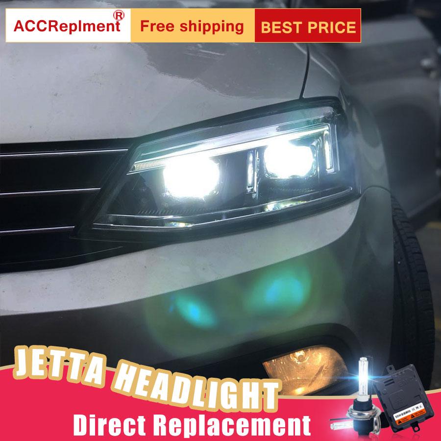 Us 531 2 17 Off 2pcs Led Headlights For Vw Jetta 2012 2016 Led Car Lights Angel Eyes Xenon Hid Kit Fog Lights Led Daytime Running Lights In Car