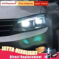 2Pcs LED Headlights For VW Jetta 2012 2016 led car lights Angel eyes xenon HID KIT Fog lights LED Daytime Running Lights