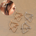 Hair Jewelry New Women Fashion Head Jewelry Cut Out Horse Hair Pin Clip Alloy Hair Side Clip Girl Wedding Hair Accessories
