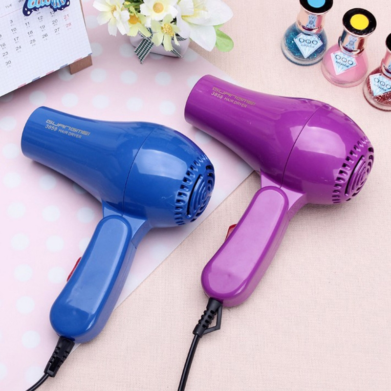 Kemei AC 220V Hair Blow Dryer 850W Travel Hair Dryer Compact Blower Foldable Portable