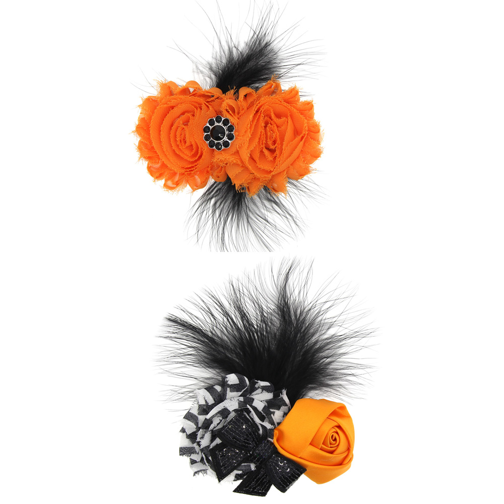 2018 Halloween Gift 2Pc/lot Children Feather Hairpin Headdress Halloween Holiday Accessories Kids Special Holiday Hairgrips