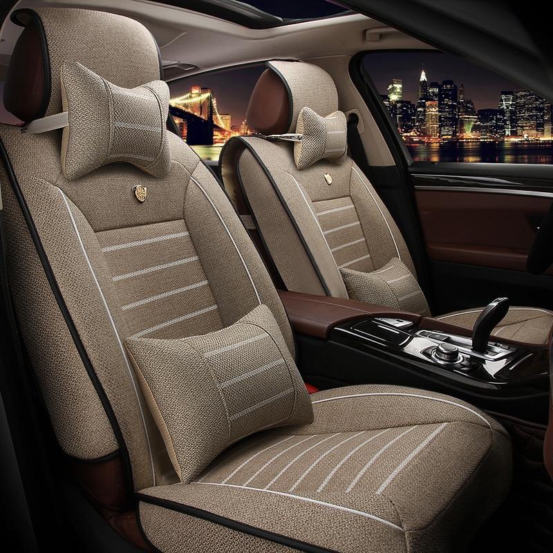 Universal car seat cover For Toyota RAV4 PRADO Highlander COROLLA Camry Prius Reiz CROWN yaris car accessories styling
