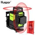 Лазерный уровень Huepar 8 линий  самонивелирующийся 3D лазерный уровень  красный луч  360 градусов  горизонтальный и вертикальный лазер с импульс...
