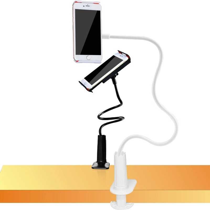حامل هاتف الخليوي العالمي مرنة الذراع الطويلة حامل هاتف كسول المشبك السرير اللوحي سنادات بالسيارة قاعدة للآيفون XS X سامسونج
