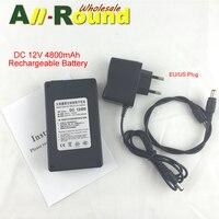 Súper polímero 4800 mAh fuente de alimentación móvil Portable de la batería de iones de litio DC 12 V 4800 mAh de la batería Recargable Li-po