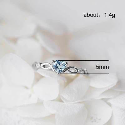 Huitan простое кольцо сердца для женщин, милые кольца для пальцев, Романтичный подарок на день рождения для девушки, модный камень циркон, ювелирные изделия 6