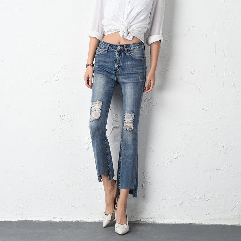 Compare Prices on Ripped Bottom Jeans- Online Shopping/Buy Low ...