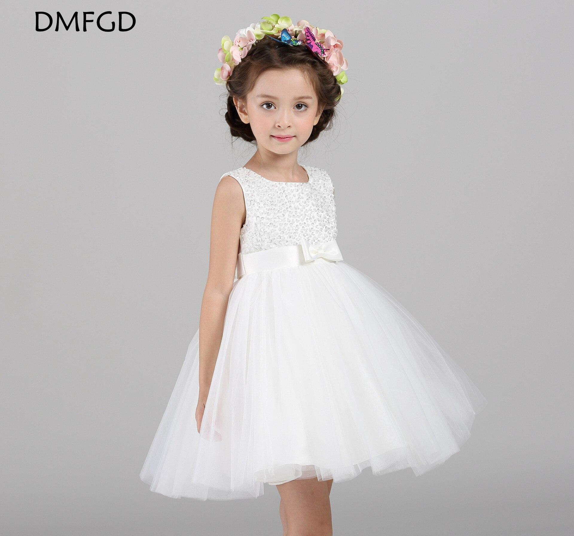 Maggie Korean girls flower girl wedding dresses hand beaded children's pompon dress