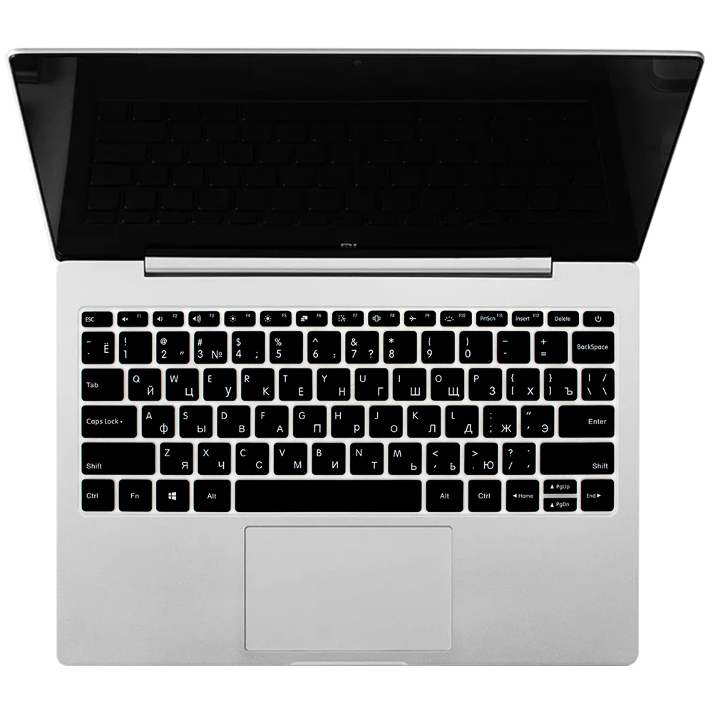 15 Inch Russian Silicone Laptop Keyboard Cover for Xiaomi Mi Notebook Air 15 15.6 Pro Skin Protector Guard Protective Film-Silver