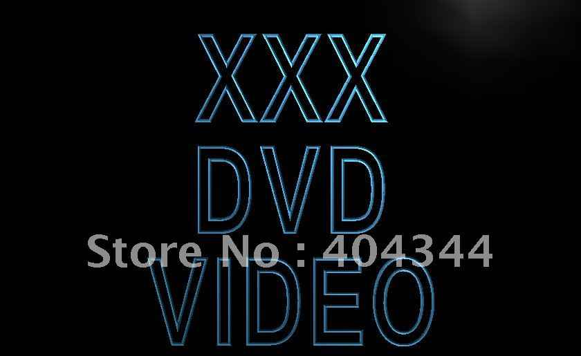 LB824- XXX DVD Video Adult Film Display LED Neon Light Sign