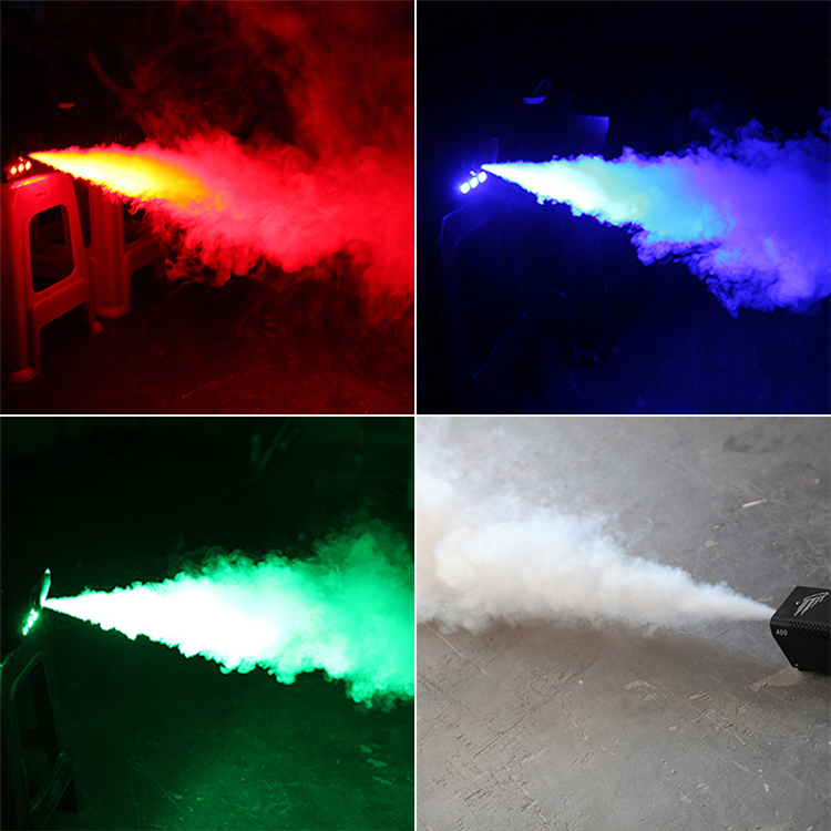 New Arrival 400w Led Muticolor Mini Stage Smoke Machine Remote Control Red Green Blue For Choice Colored Fog Machine Lights & Lighting