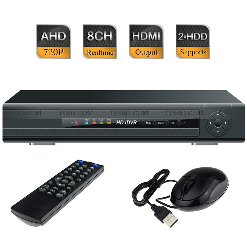 8CH AHD-M 720P Realtime Recorder CCTV Hybrid DVR HVR Security 1080P NVR 2SATA security 4ch ahd m dvr 8ch realtime 1080p nvr video recorder multi mode