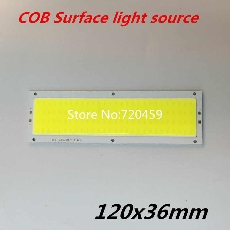LED surface emitting COB light strip lamp lamp panel DC12-14V of integrated lamp strip surface plate 120x36mm