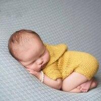 Recién nacido Unisex Baby Girl Boy Ropa de Ganchillo Foto Fotos Props Disparar Bebé Accesorios de Fotografía Apoyos Traje Trajes