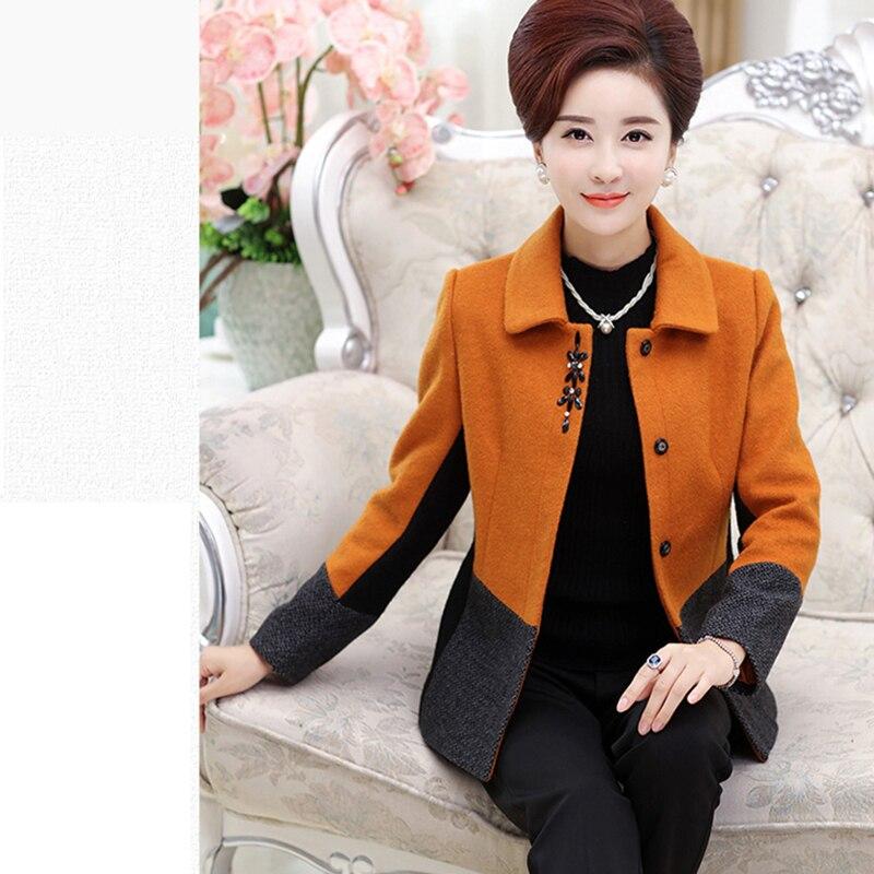 Nouveau Laine gray D'âge Taille Femmes Grande Moyen À Mode Manches red Âgées Longues green 2019 Ses781 Automne De Xl Orange Veste 5xl Wwq8XHxdqP