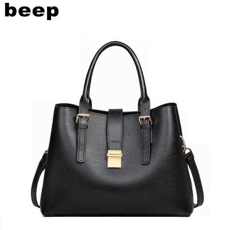 BEEP high quality fashion luxury brand 2019 new handbag large capacity single shoulder Messenger bag big bag texture leather hanBEEP high quality fashion luxury brand 2019 new handbag large capacity single shoulder Messenger bag big bag texture leather han