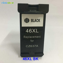1pcs For HP46XL Ink Cartridge CZ637A Black HP 46XL for hp DeskJet 2020HC 2520HC 2025HC 2520 2020