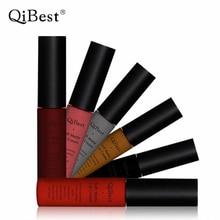 Qibest макияж матовая помада водонепроницаемый прочный batom дело губная помада nude жидкая помада блеск для губ maquiagem nude lip stain(China (Mainland))