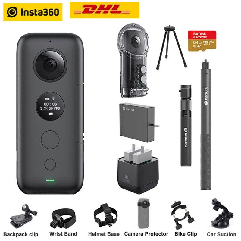 Insta360 One X Câmera Ação VR 360 Câmera Panorâmica para o iphone x xs Android 5.7K Vídeo 18MP Invisível Selfie vara Insta 360