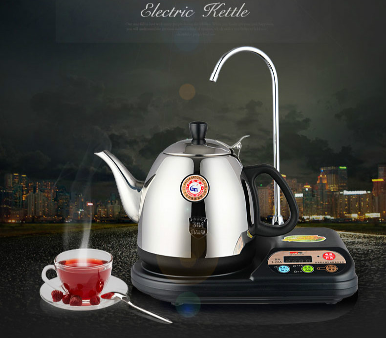 Automatic upper water electric kettle brewing tea stove Overheat Protection Safety Auto-Off Function full intelligent electric teapot automatic water heater kettle full tea stove set overheat protection