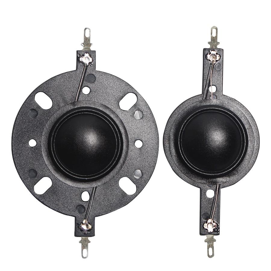 2PCS 25.4mm Voice Coil Black Horn Tweeter Silk Diaphragm Film Treble 8OHM 25.5 Core 8OHM Speaker Accessories DIY