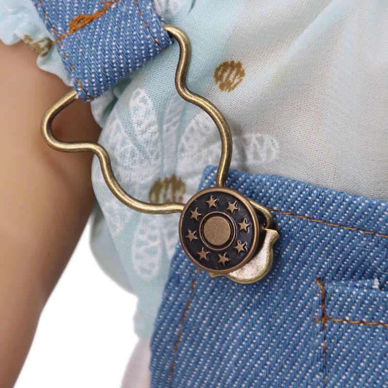 LUCKDOLL الجينز حزام قابل للتعديل الكتف حزام صالح 18 بوصة الأمريكية 43 سنتيمتر بيبي دول الملابس والاكسسوارات ، الفتيات اللعب ، هدية الجيل