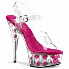2016 fashion 15cm 20cm ultra high heels thin heels sandals rose crystal platform plus size  women wedding shoes women's shoes