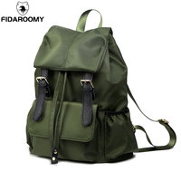 Oxford Schoolbags Backpacks College Students Bags Women Satechel Casual Army Green Mochila for Teens Large Capacity Bucket Bags