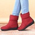 Mulheres inverno Botas Ankle Boots Feminino À Prova D' Água Para Baixo Botas de Neve Quente Sapatas Das Senhoras Mulher Zipper Fur Palmilha Botas Mujer Livre