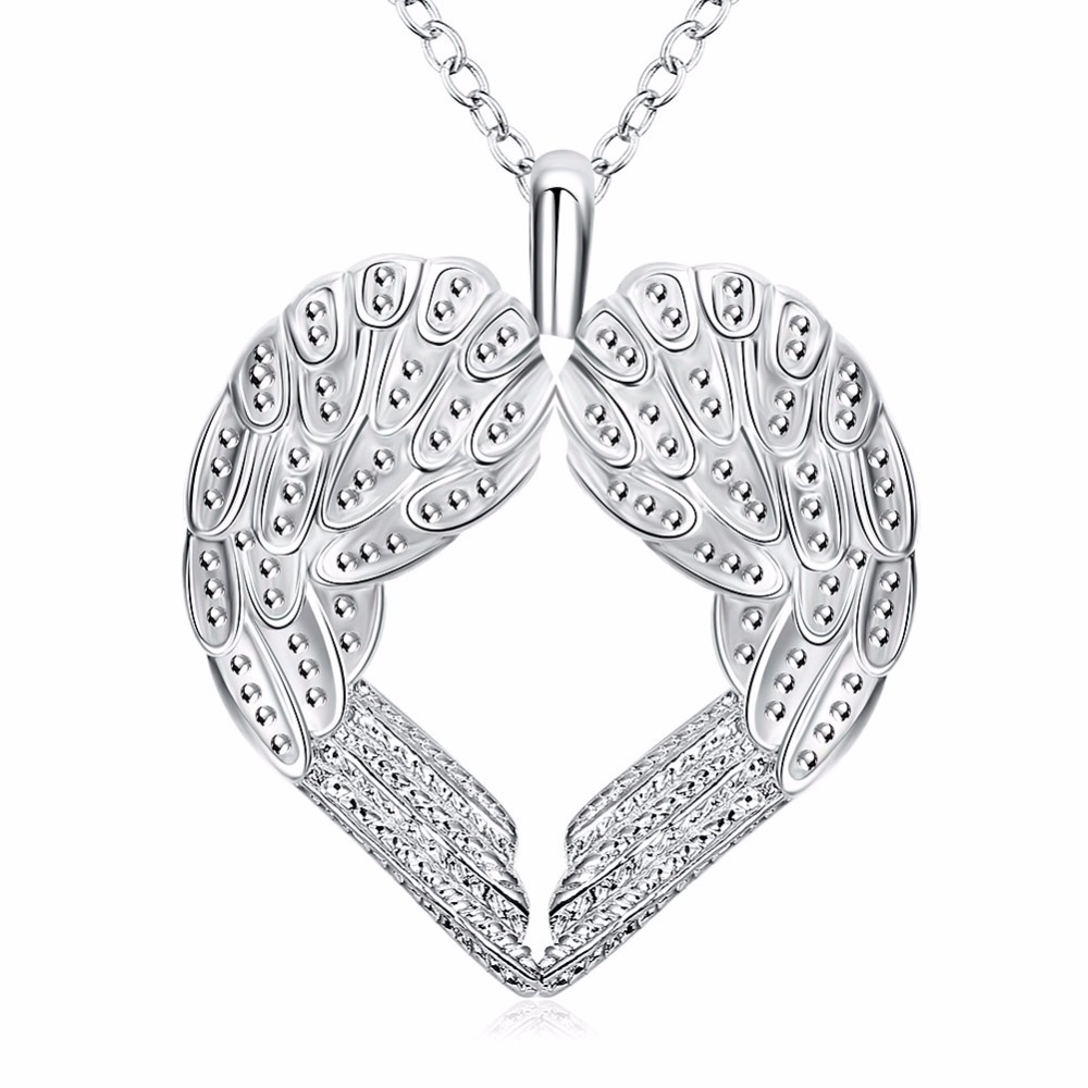 2017-Top-Silver-Color-Angel-Heart-Wings-Necklace-Fashion-Heart-fashion-pendant-necklace-jewelry-Factory-Silver