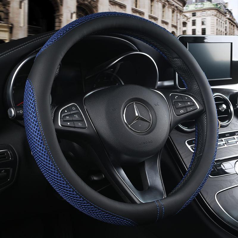 Дышащая кожа автомобилей Стайлинг Руль Обложка для Mazda 3 2 Mazda 6 Axela CX-5 CX5 CX-7 CX7 CX-9 RX8 авто аксессуары